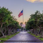 Veterans Memorial Park Vero Beach Florida American Flag Tree