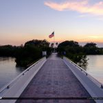Veterans Memorial Park Vero Beach Florida Bridge America Flag