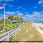 Aerican Flag at Beach Blue Sky Jaycee Park Vero Beach Florida
