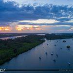 Sunset at River Vero Beach Florida