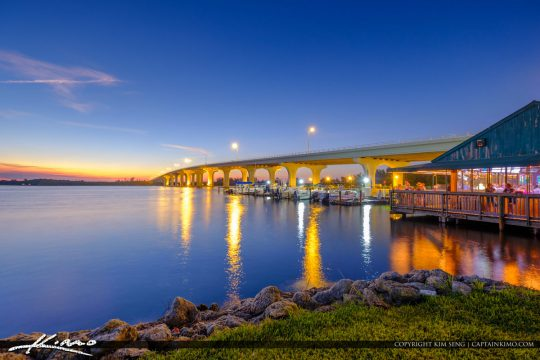 Riverside Cafe Indian River Merril P Barber Bridge Vero Beach Fl