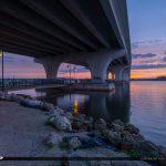 Sunset Under Merril P Barber Bridge Vero Beach Florida