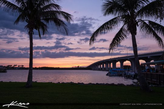 Cloudy Sunset Merril P Barber Bridge Vero Beach Florida