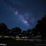 Lake Okeechobee Milkyway Over Okeechobee City