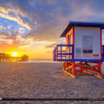 Sunrise Cocoa Beach Lifeguard Tower Brevard County Florida