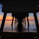 Sunrise from Under the Juno Beach Pier Florida