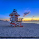 Miami Beach Sunrise Lifeguard Tower