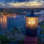 Jupiter Lighthouse Nightlife Waterway Aerial Photography