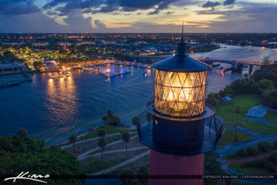 Jupiter Lighthouse Nightlife Waterway Aerial Photography