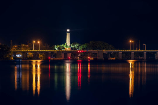 Burt Reynolds Tribute Photo of Jupiter Florida Lighthouse