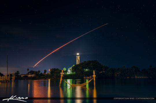 Jupiter Lighthouse SpaceX Rocket Launch