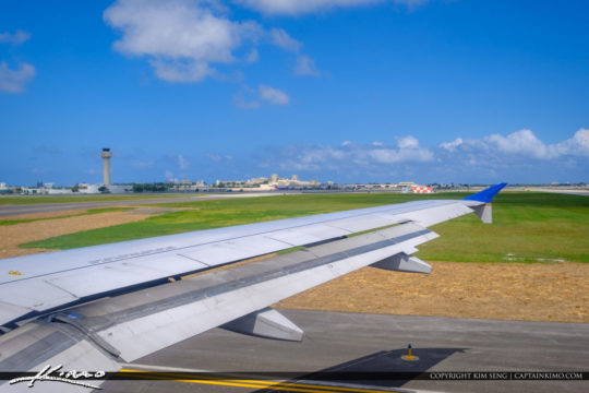 Airplane Wing at the PalmBeach INternational Airport