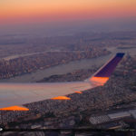 Airplane Wing Over the City of New York
