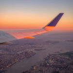 Airplane Wing Vertical New York City Below