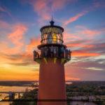 Jupiter Lighthouse Sunset Aerial HDR Photobgraphy