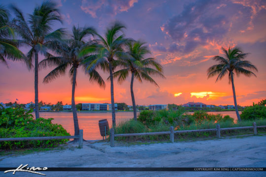 Jupiter Island Explosive Sunset Waterway