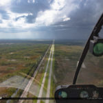 North Palm Beach County Airport Storm Coming from Helicopter