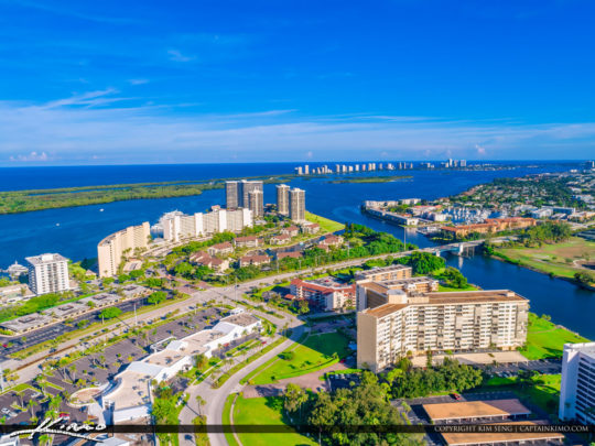 North Palm Beach Skyline View with Singer Island
