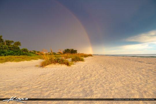 Anna Maria Island Florida Rainbow at Beach