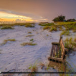 Bench at Sunset Anna Maria Manatee County Florida