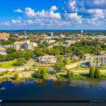 Winter Haven Florida Lake Howard Aerial Downtown Florida