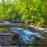 Cullasaja River Highlands North Carolina Blue Ridge Parkway Log