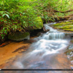 Cascade Falls Jobs Cabin North Carolina Stream Long Exposure at