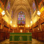 Back Duke University Chapel Interior Durham North Carolina Durha
