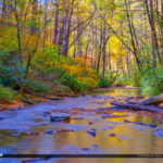 Autumn Looking Glass Creek Blue Ridge Parkway Brevard North Caro