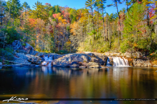 Fall Colors at Linville Falls North Carolina