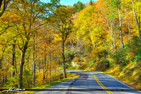 North Carolina Blue Ridge Parkway Road Fall Colors