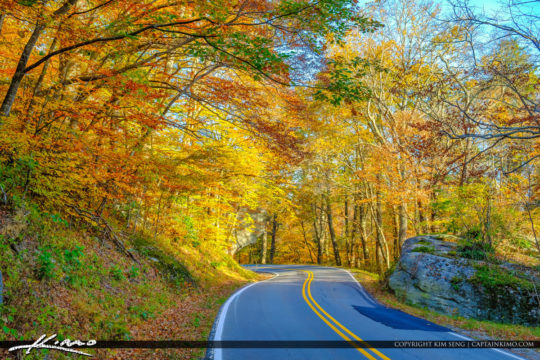 North Carolina Blue Ridge Parkway Road Fall Colors Amazing Color