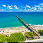 Aerial Photo Blue Water at Juno Pier Instagram Square
