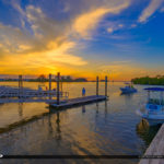 Anclote River Park Public Boat Ramp Sunset Holiday Florida Pasco
