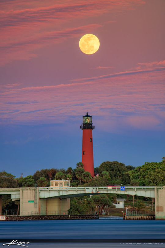 January 2019 Fullmoon Rise Jupiter Florida Wolfmoon