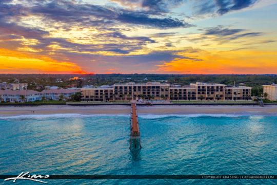 Aerial Photography Vero Beach Florida at Pier