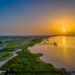 Lake Okeechobee Park Sunrise Aerial Photography