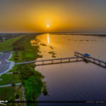 Aerial View Lake Okeechobee Park Sunrise