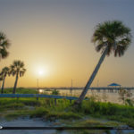 Lake Okeechobee Park Sunrise Double Palm Tree