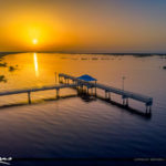 Lake Okeechobee Park Sunrise Aerial Closeup Revise Edit Colors