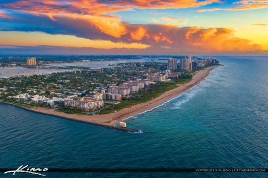 Easternmost Point In Florida Sunrise Singer Island Aerial Photog
