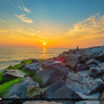 Coin Beach Delaware National Seashore North Inlet Sunrise Rocks
