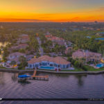 Amazing Sunset View Waterway at Palm Beach Florida