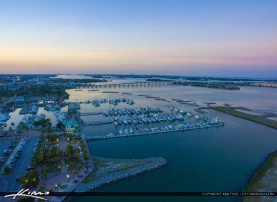 Fort Pierce Downtown Marina High Resolution Aerial