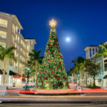 Harbourside Place Christmas Lights Under Moon Light