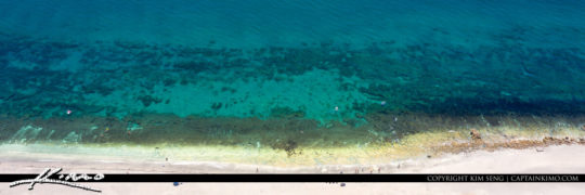 Coral Cove Park Aerial View of Beach and Bluewater Atlantic Ocea