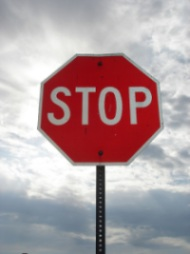 Stop sign by Kt Anne (Flickr)