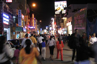 Commercial Street in Bangalore