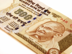 Indian Money with a picture of Gandhi on it