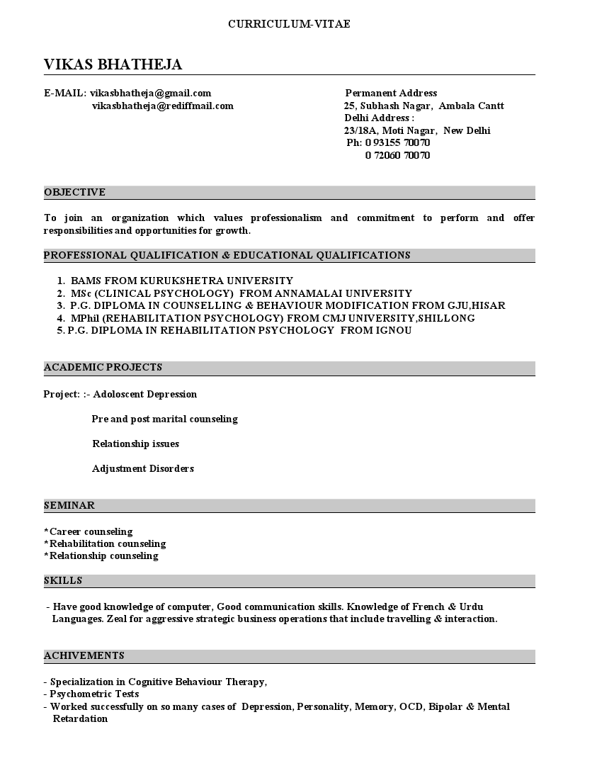 Cover letter employment counsellor